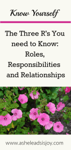 The Three R's Roles Responsibilities, and relationships