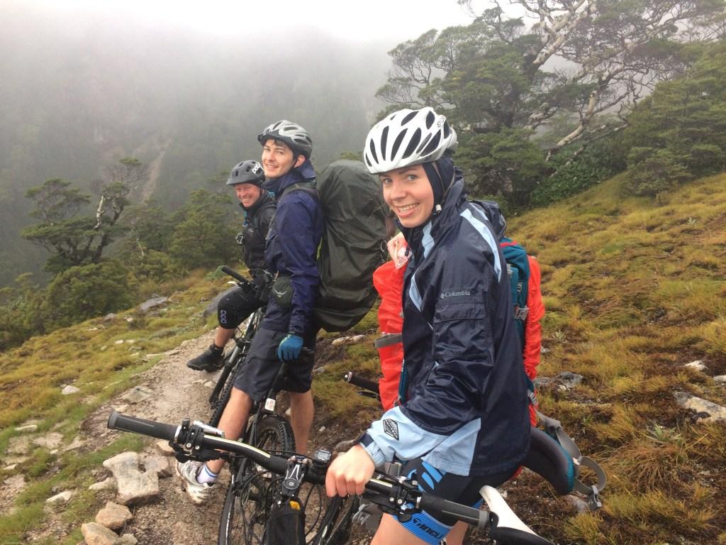 Riding bikes in the rain