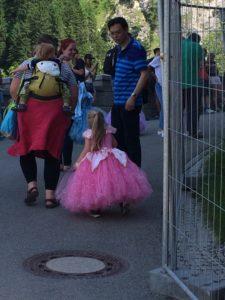 Princesses at Neuschwanstein Castle