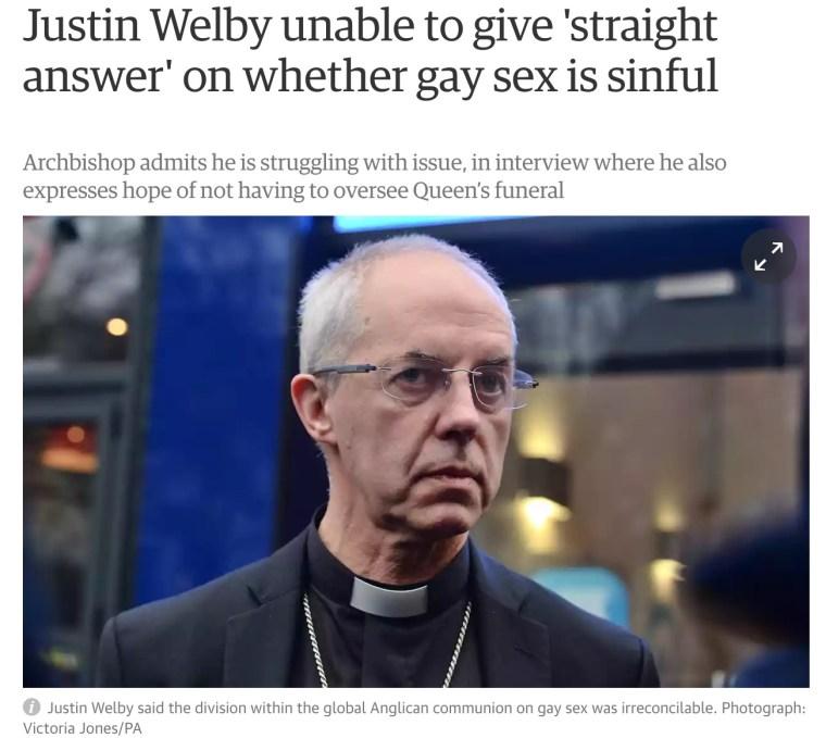 welby gay sex sin