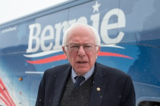 Democratic presidential candidate, Sen. Bernie Sanders, I-Vt. arrives to speak at a town hall, Tuesday, Jan. 19, 2016, at Santa Maria Winery in Carroll, Iowa. (AP Photo/Andrew Harnik)