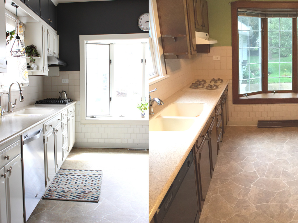 How we painted our kitchen cabinets - An inexpensive change that ...