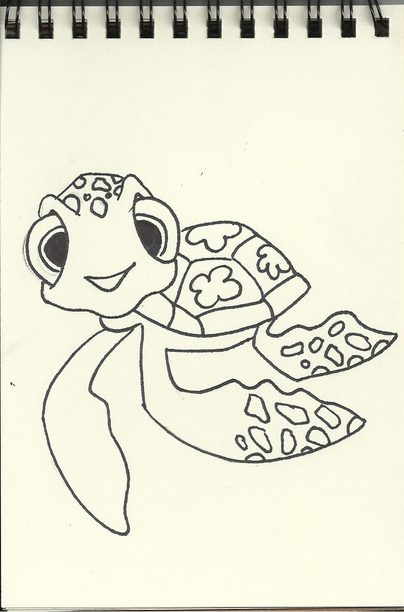 displaying 16 gt images for finding nemo turtle drawing