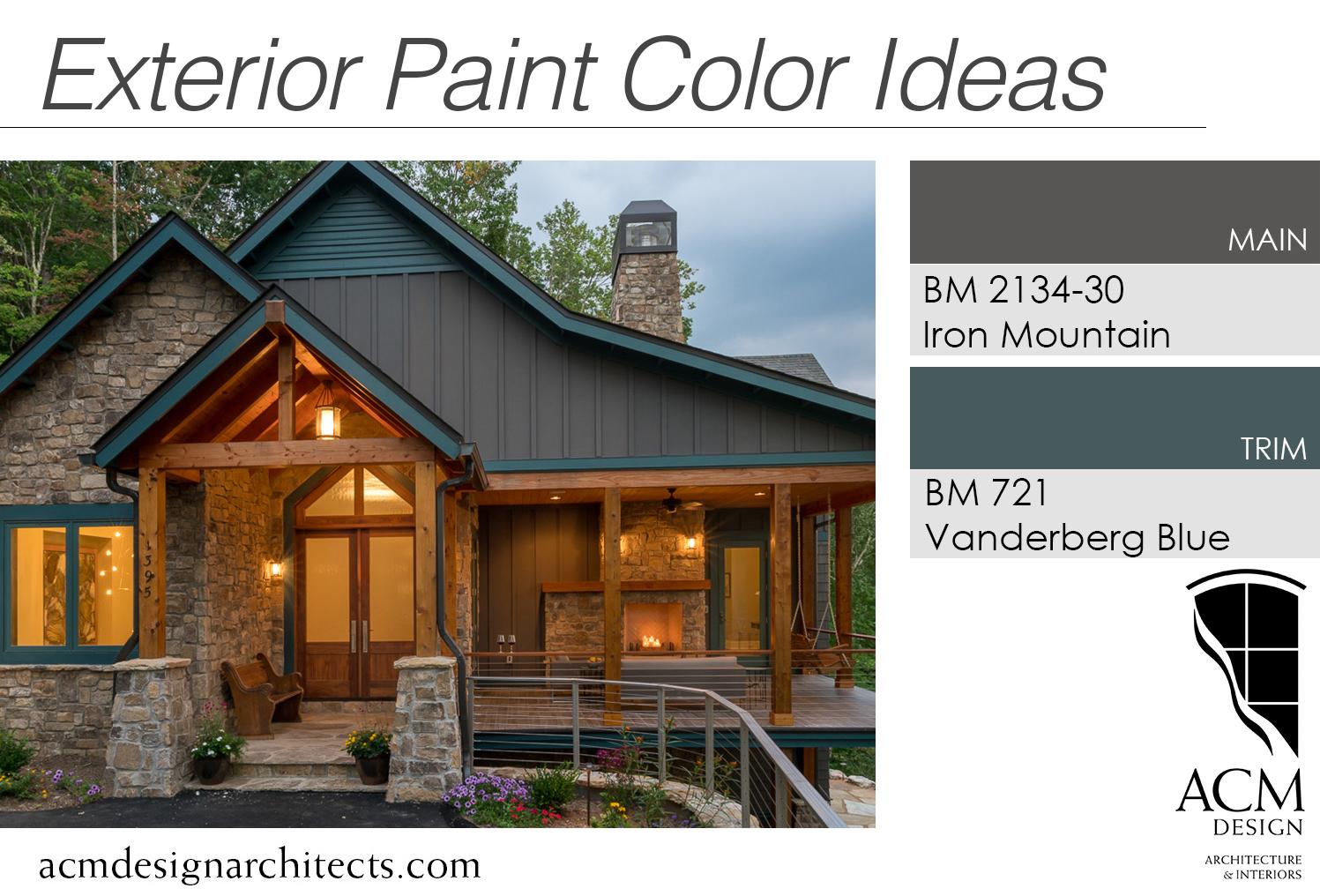 Mountain Modern Home Colors. Exterior Paint Color Ideas