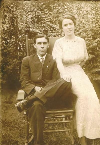 William Pierce Rudisill and Virginia Pearl Fox Rudisill, ca. 1916
