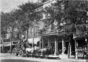 Eagle Hotel before 1900, whre (it seems likely) the Land of the Sky travelers stayed. Courtesy of Pack Memorial Public Library.