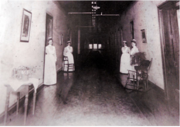 Patient ward in main hospital, ca. 1900. Broughton Hospital archive via Carrie Streeter