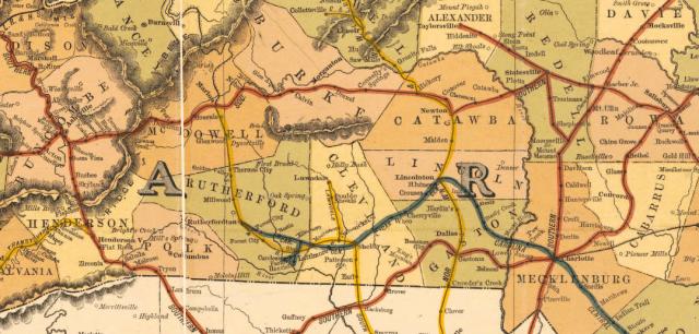 North Carolina Railroad Map, 1900. North Carolina Maps Collection, UNC Chapel Hill.
