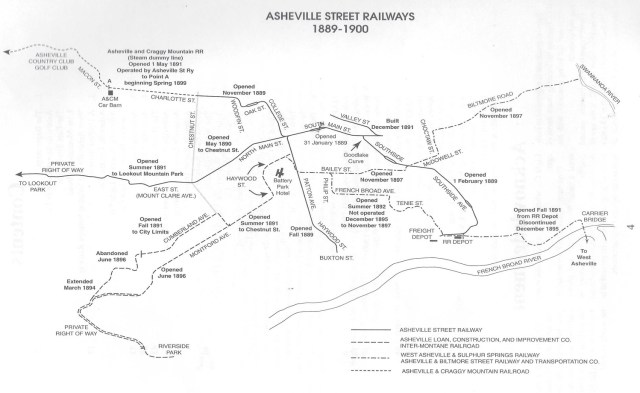 Asheville Street Railways, 1889-1900. Trolleys in the Land of the Sky