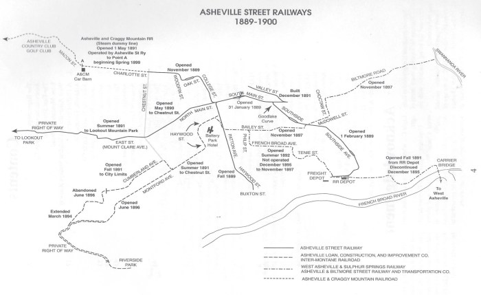 Asheville Street Railways, 1889-1900. Trolleys in the Land of the Sky