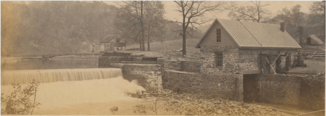 Asheville City Water Works, ca. 1883. E. E. Brown Collection, D. H. Ramsey Library, UNC Asheville.