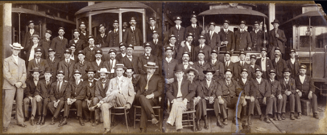 Asheville Street Railway officers and employees, ca. 1907