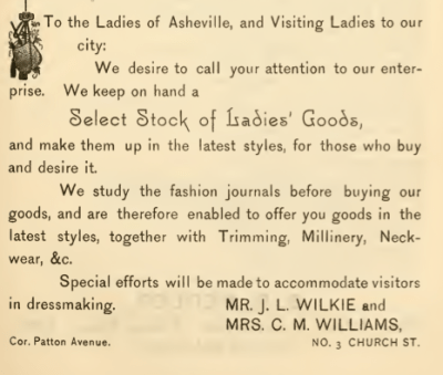 Asheville City Directory, 1887