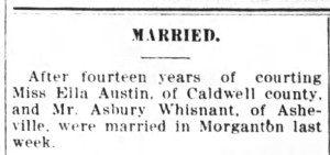 Lexington Dispatch, November 13, 1907.