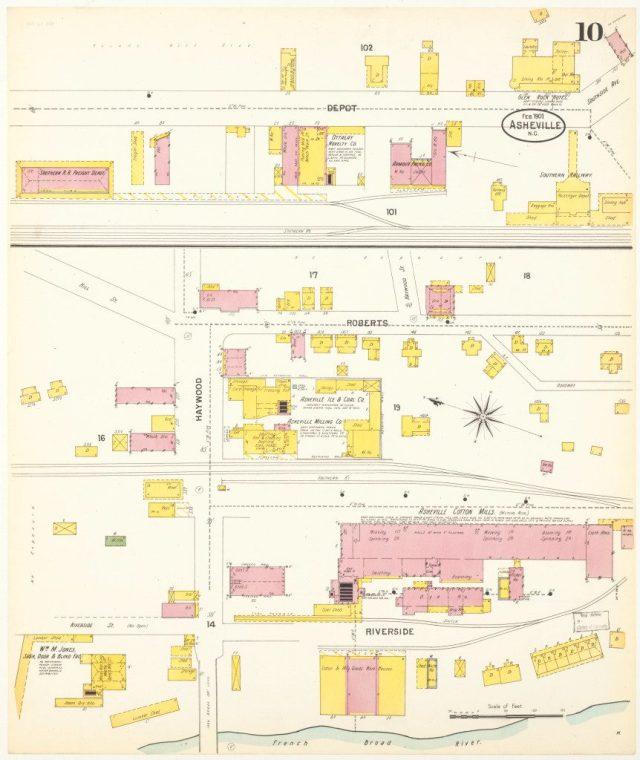 Sanborn Fire Insurance Co. map, 1901. p. 10.