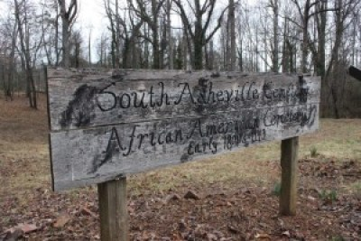 South Asheville Cemetery for slaves. South Asheville Cemestery Association