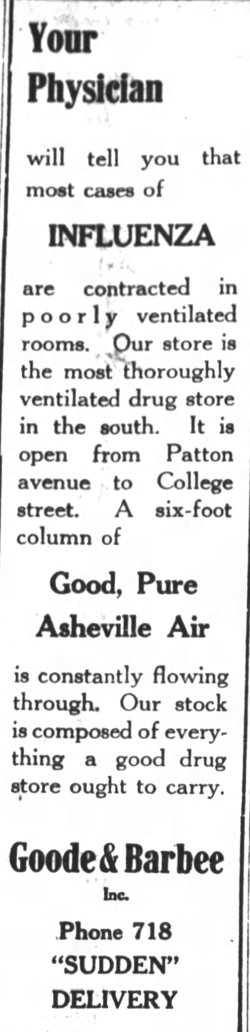Asheville Citizen-Times, October 12, 1918