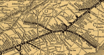 Seaboard Airline Railroad, NW spur near Gastonia (1896). Map of the Seaboard Airline and Its Principal Connections. Library of Congress.