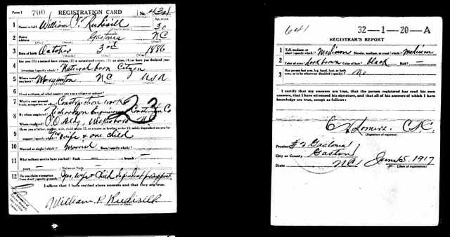 William P. Rudisill, registered at Gastonia, June 5, 1917.