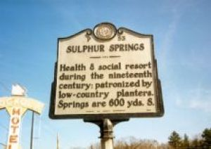 Sulphur Springs historic marker (P-53), located on US 19/23 at Old Haywood Road