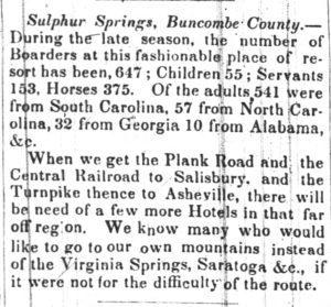 The Carolina Watchman (Salisbury), November 8, 1849, p. 3.