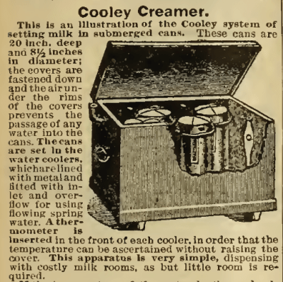 Cooley Creamer by Vermont Farm Machinery Co. Sears, Roebuck catalog, 1898, p. 857.