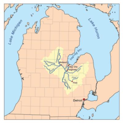 Saginaw River watershed. Wikipedia