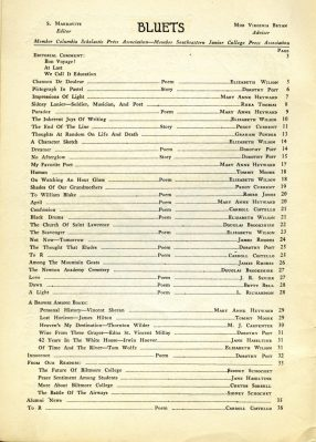 Bluets May 1935 contents