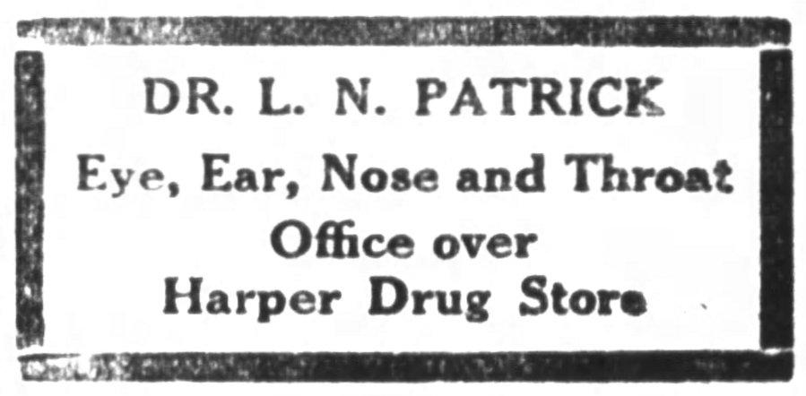 L. N. Patrick office advertisement