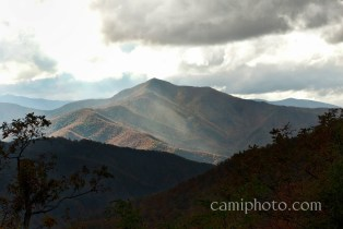 View from Mt Pisgah - Sunbeam breaking over the mountains