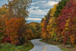 Fall drive on the Blue Ridge Parkway