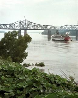 Delta Queen on the Mississippi river at Vicksburg