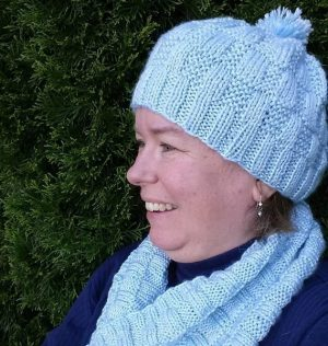 Ice Blocks Hat and Cowl - ASHFiberArts