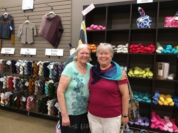 yarn shop hop with Mom at yarnology