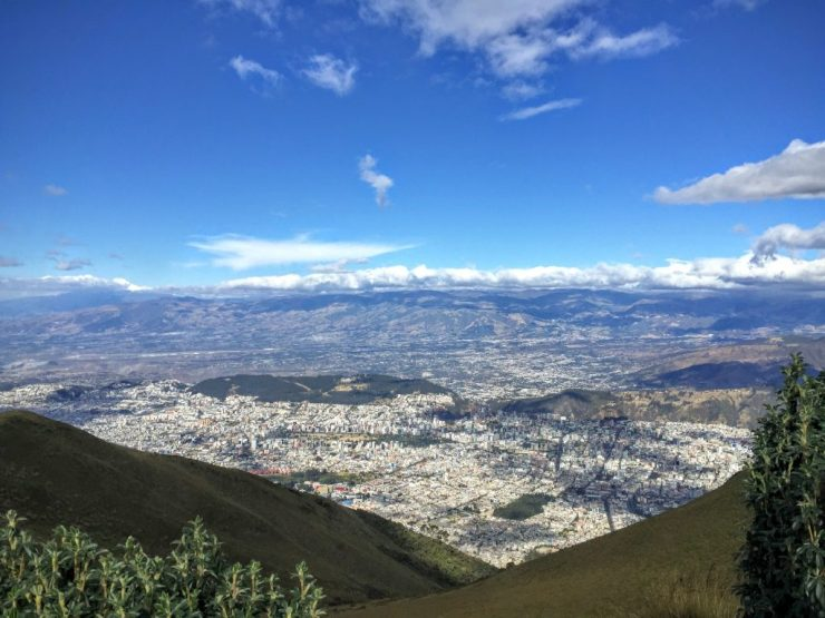 A view of Quito from Teleferico