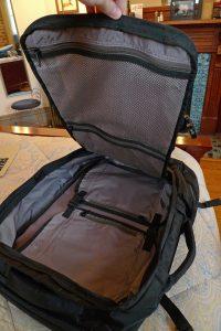 Front loading backpack