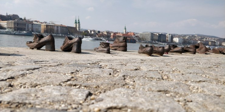 Shoes at Danube River