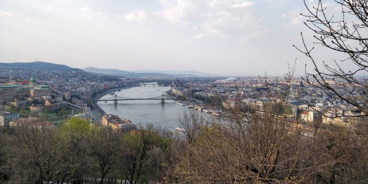 View of Budapest from Citadella