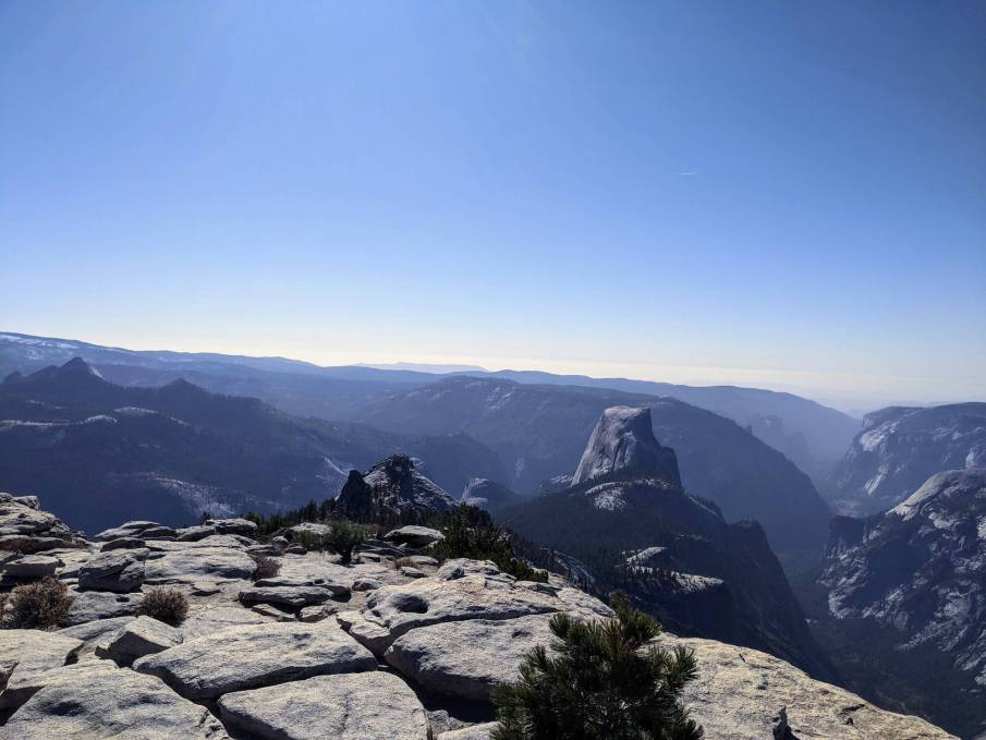 Half Dome as seen from Clouds Rest