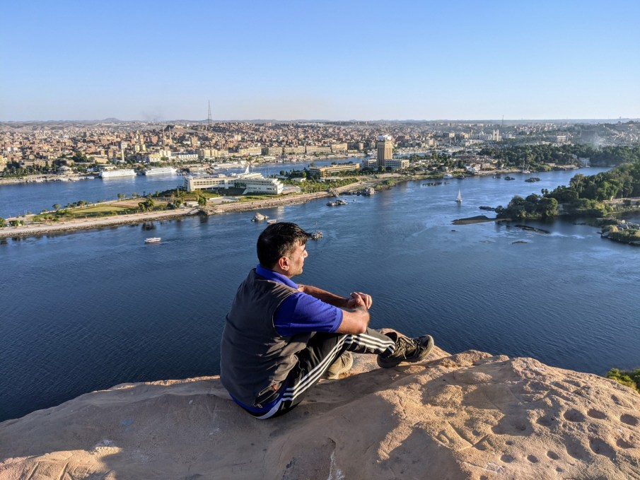 Aswan as seen from across the Nile river