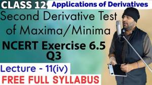 Lecture 11 Applications of Derivatives Class 12 3