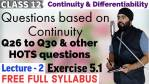 Continuity and Differentiability Lecture 2