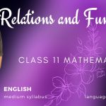 Relations and Functions Class 11 Maths