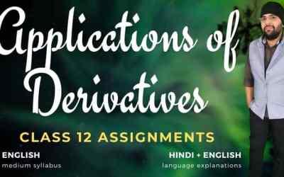 Ch06. Applications of Derivatives Class 12 Assignments – 90D
