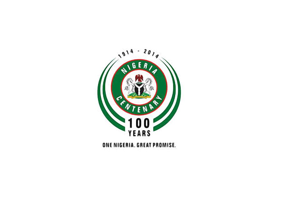 Official Nigeria at 100 logo