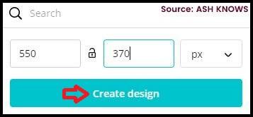 Create Design - Canva - ASH KNOWS