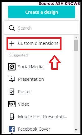 Custom Dimensions - Canva - ASH KNOWS