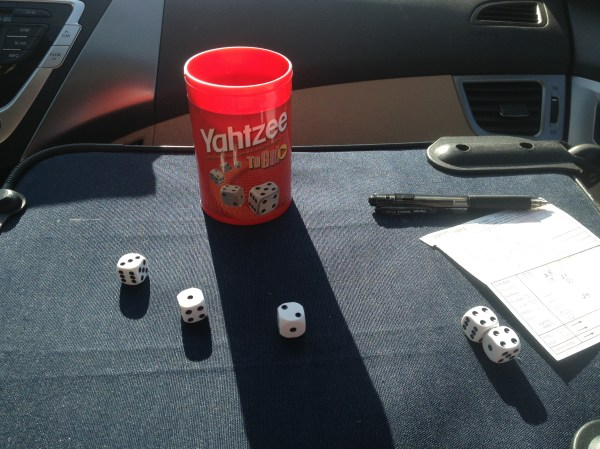 Played Yahtzee while driving