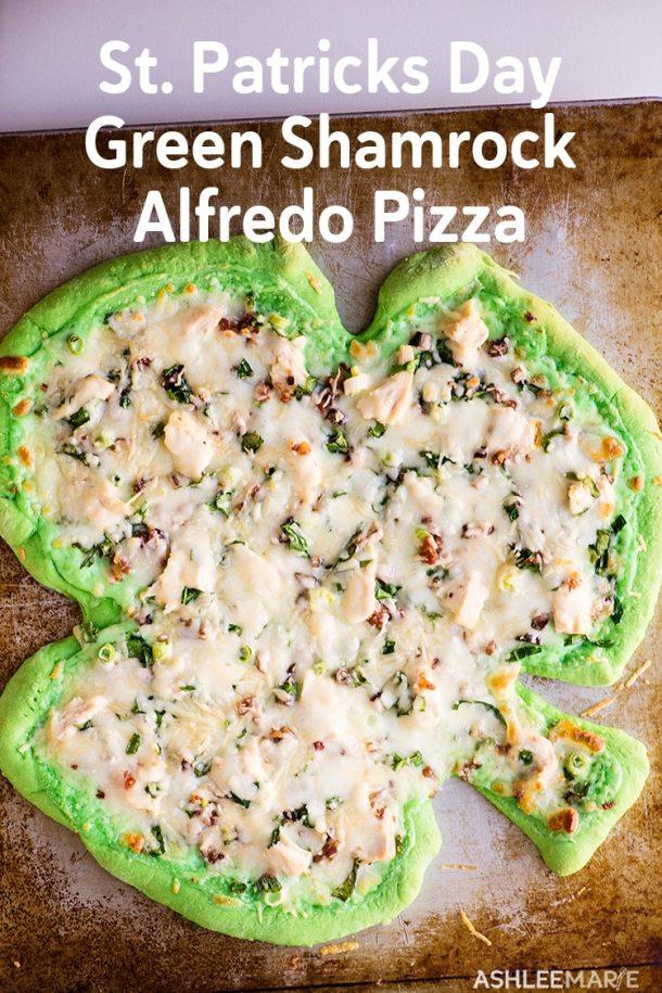 st patricks day green shamrock pizza
