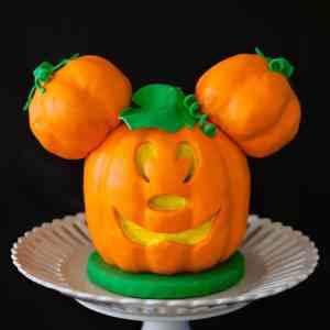 Mickey mouse jack o lantern cake tutorial